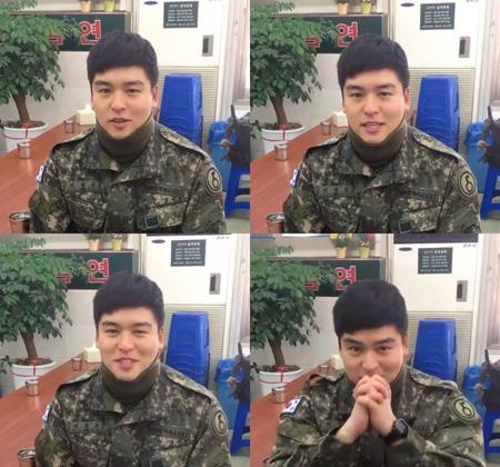 韓国俳優イ・ジャンウが25日、除隊した中、待っていてくれたファンへ感謝を伝えた。(提供:news1)