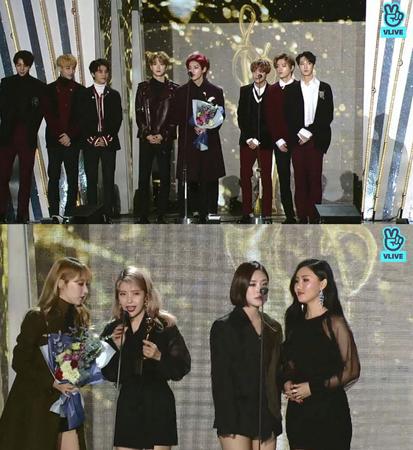 韓国ボーイズグループ「NCT 127」とガールズグループ「MAMAMOO」が、「ソウル歌謡大賞」でベストダンス賞を受賞した。(提供:news1)