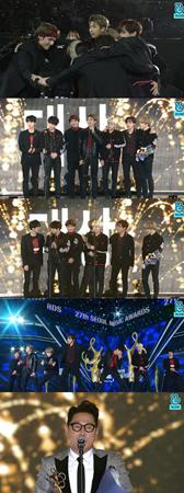 韓国ボーイズグループ「防弾少年団」が、「ソウル歌謡大賞」で大賞を受賞した。(提供:news1)