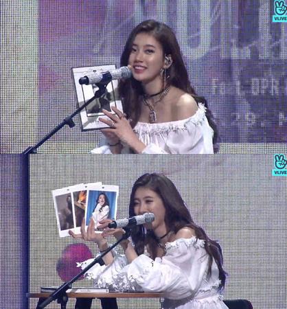 韓国歌手スジ(元Miss A)が、ショーケースでニューアルバムを愉快に紹介した。(提供:news1)