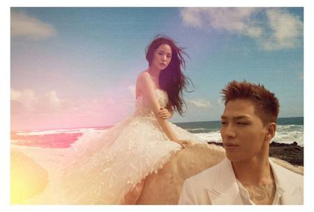 夫婦になった「BIGBANG」SOLと女優ミン・ヒョリンが、結婚に関して感謝のあいさつをした。(提供:OSEN)
