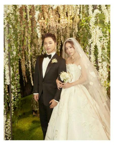 「BIGBANG」のSOLと女優ミン・ヒョリンの披露宴写真が公開された。(提供:OSEN)
