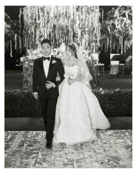 「BIGBANG」テヤンと女優ミン・ヒョリンが3日、結婚式と披露宴を執り行い、夫婦になった。(提供:OSEN)