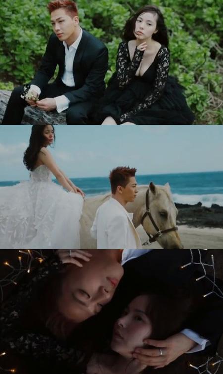 去る3日、夫婦の縁を結んだ韓国男性グループ「BIGBANG」SOLと女優ミン・ヒョリンのハワイ映像画報が公開された。(提供:OSEN)