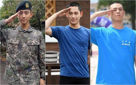 現在、軍入隊中の韓国ボーイズグループ「2PM」のテギョンと、「ZE:A」のイム・シワン、ラッパーのBeenzinoが、2018平昌(ピョンチャン)冬季五輪のイベントに出演する。(提供:OSEN)