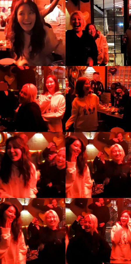 「少女時代」のスヨンが誕生日パーティを開き、メンバーたちが集まってヒット曲を熱唱した。(提供:OSEN)
