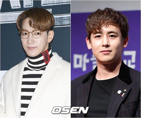 韓国ボーイズグループ「2PM」メンバーのJun.Kが免許停止レベルの飲酒運転で摘発され、活動を全面中断した。6年前にはニックンも飲酒運転で摘発されている。(提供:OSEN)