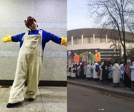 パク・スルギ、「H.O.T.」の再結成公演に感動し涙…「Candy」の衣装で記念写真(提供:OSEN)