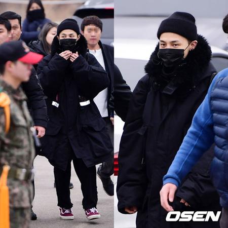韓国の人気グループ「BIGBANG」G-DRAGON(29)がファンに見送られながら、静かに入隊した。