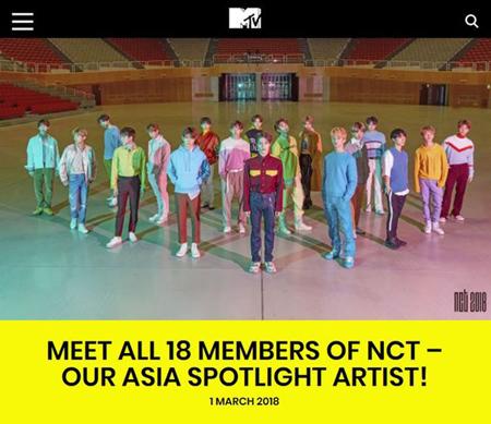 """「NCT」、""""MTV ASIA3・4月のアーティスト""""に選定=2か月連続は初(提供:OSEN)"""