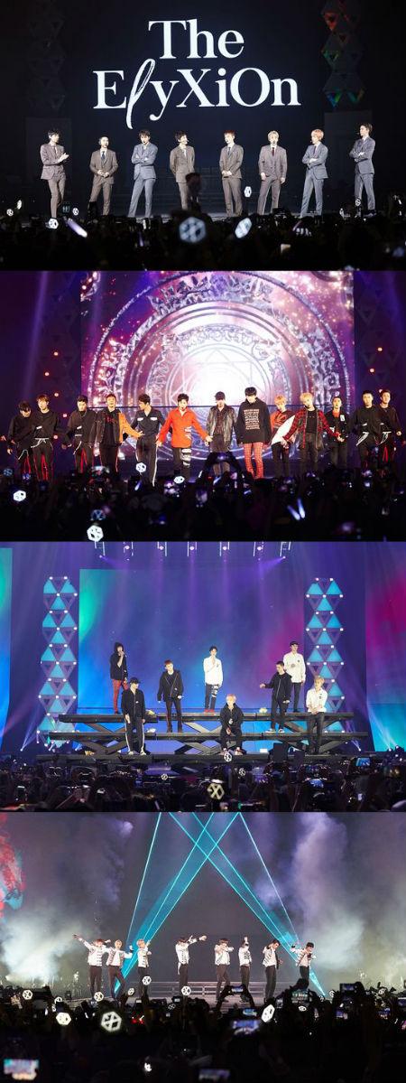 4度目の単独コンサートツアーを展開している「EXO」が、シンガポールコンサートを大盛況のうちに終えた。(提供:OSEN)