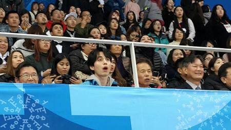 ドラマ「トッケビ~君がくれた愛しい日々~」などで日本でも有名な俳優イ・ドンウクが、日本からの応援団と共に平昌(ピョンチャン)パラリンピックを応援した。(C)WoW! Korea