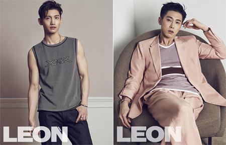 韓国の男性ライフスタイル誌「LEON」が4月号を通して「東方神起」の画報を公開した。(提供:news1)
