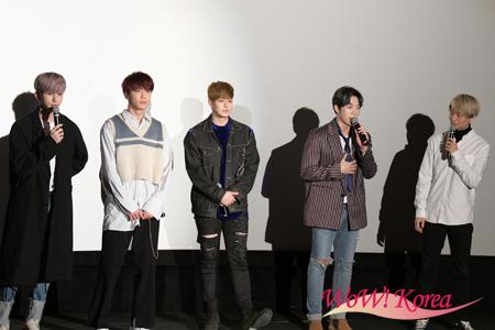 「U-KISS」左からキソプ、ジュン、イライ、フン