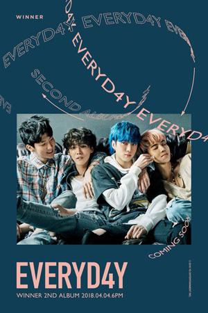 """【公式】""""カムバック""""「WINNER」、2ndアルバム名は「EVERYD4Y」(提供:OSEN)"""
