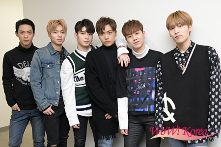 「7O'Clock」左からVAAN(バン)、テヨン、A-day(エイデイ)、ジョンギュ、ヨンフン、ヒョン