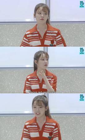 """韓国ガールズグループ「OH MY GIRL」メンバーのスンヒが、""""19禁""""ジンクスを明らかにした。(提供:OSEN)"""