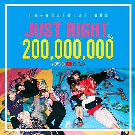 「GOT7」、「Just right」MVが再生回数2億回を突破(提供:OSEN)
