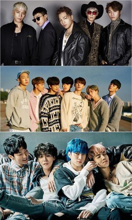 韓国アイドルグループ「WINNER」、「BIGBANG」、「iKON」などYGエンターテインメント3兄弟グループがそろってGaonチャートを占領した。(提供:OSEN)