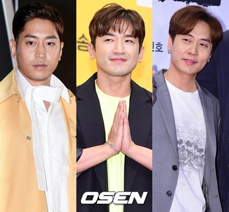 韓国グループ「SHINHWA」のメンバーエリック、ミヌ、アンディーが「ジャングルの法則」に同伴出演することがわかった。(提供:OSEN)