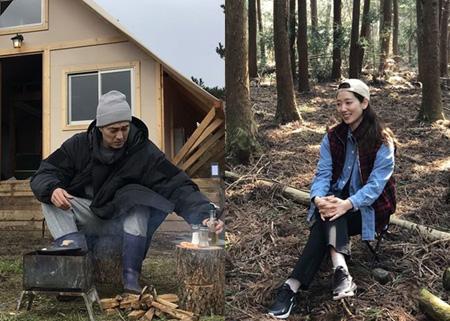 tvN新バラエティ「森の小さな家」側、俳優ソ・ジソブ&パク・シネの撮影風景を公開(提供:OSEN)