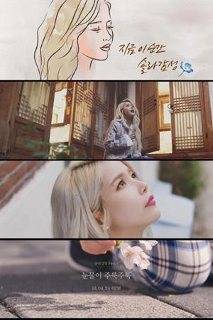 韓国ガールズグループ「MAMAMOO」メンバーのソラが24日に発表するプロジェクトアルバム「ソラ感性 Part.6」のタイトル曲「涙そうそう」のティザー映像が公開された。(提供:OSEN)