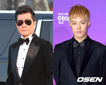 韓国で活動中の歌手KangNam(31)が移動中に玉突き事故に遭い、忠北(チュンブク)大学病院で応急処置を受け、一緒にステージに上がることになっていたトロット歌手テ・ジナ(65)とソウルに移動している。(提供:O