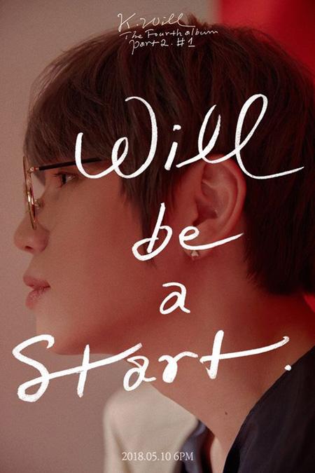 歌手K.Will、5月10日に8か月ぶりのカムバック! (提供:OSEN)