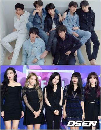 「防弾少年団」&「Red Velvet」、春にデートしたいアイドル1位に…投票理由もさまざま(提供:OSEN)