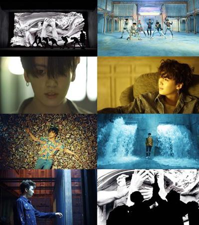 韓国ボーイズグループ「防弾少年団」が18日午後6時、公式YouTubeチャンネルで3rdアルバム「LOVE YOURSELF 轉 'Tear'」のタイトル曲「FAKE LOVE」のMVを公開した。(提供:OSEN)