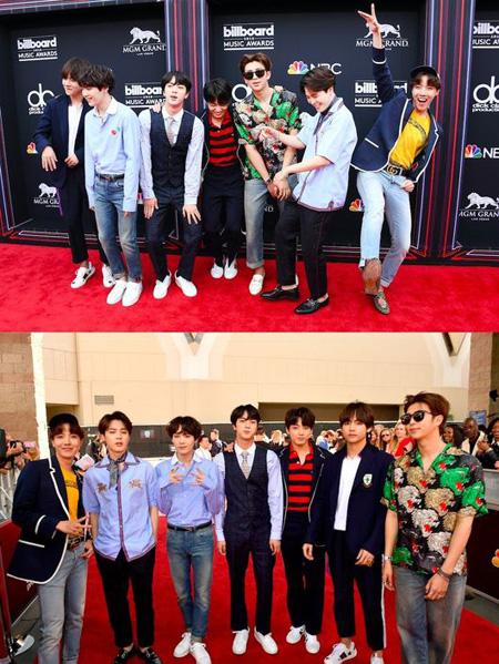 韓国アイドルグループ「防弾少年団(BTS)」が「2018 Billboard Music Awards」のステージに上がる心境を伝え、ファンへ向けて感謝の気持ちを表した。(提供:OSEN)