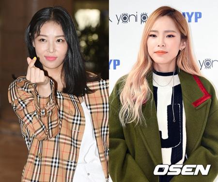 韓国ガールズグループ「Wonder Girls」出身のユビンと歌手Heizeがバラエティ番組「一食ください」に出演することがわかった。(提供:OSEN)
