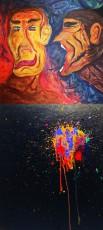 「SEVENTEEN」ミンギュ&THE8、デビュー3周年記念展示会で絵の作品を公開! 写真上段がミンギュ、下段がTHE8の作品。(提供:OSEN)