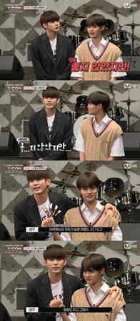 韓国ボーイズグループ「Wanna One」メンバーのオン・ソンウとイ・デフィが、ユニット結成後に深まる仲良しぶりを見せた。(提供:OSEN)