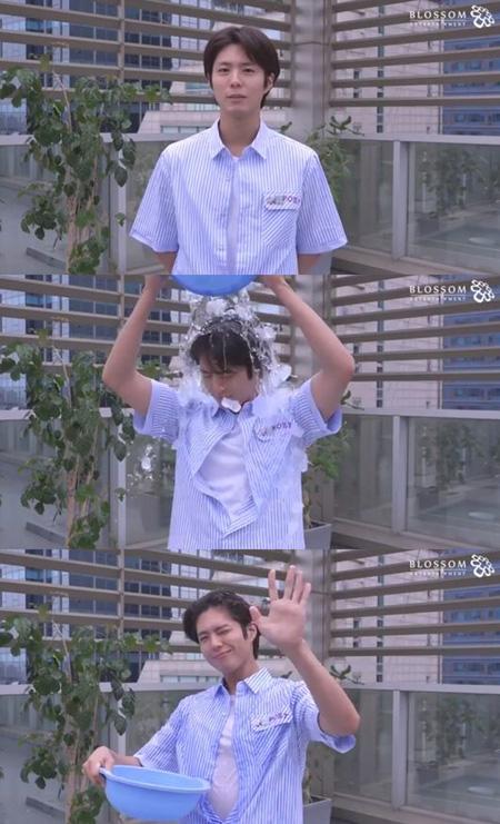 韓国俳優パク・ボゴムが「2018アイス・バケツ・チャレンジ」に参加した。(提供:OSEN)