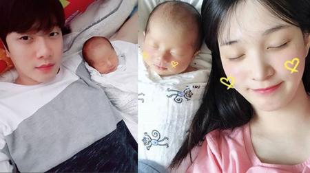 韓国バンド「FTISLAND」メンバーのチェ・ミンファンと、ガールズグループ「LABOUM」元メンバーのユルヒ夫妻が、息子の写真を公開した。(提供:OSEN)