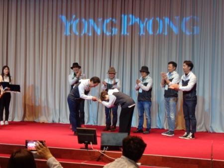 韓国ドラマ「冬のソナタ」や、「トッケビ~君がくれた愛しい日々~」の撮影地としても有名な(株)龍平(ヨンピョン)リゾートで2日、「発王山サポータズ結団式」が開催された。(C)WoW! Korea