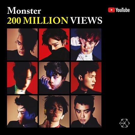 「EXO」、ヒット曲「Monster」MVが再生回数2億ビューを突破(提供:news1)