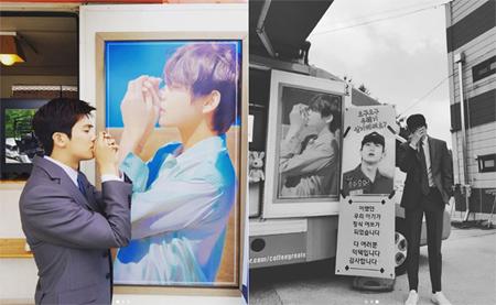 「SUITS」パク・ヒョンシク、V(BTS)からの贈り物に感謝「アイラブユー、テテ」(提供:OSEN)