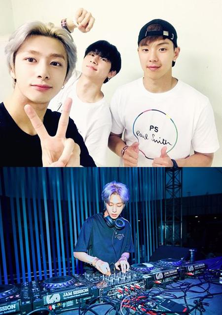 韓国アイドルグループ「MONSTA X」のヒョンウォン(DJ H.ONE)が「ULTRA KOREA 2018」のビハインドカットを公開した。(提供:OSEN)