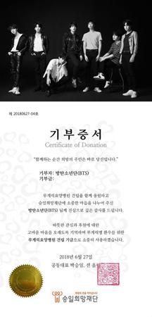 韓国ボーイズグループ「防弾少年団」が、寄付でアイス・バケツ・チャレンジに参加した。(提供:OSEN)