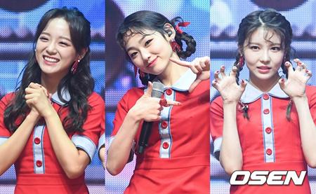 韓国ガールズグループ「gugudan」からセジョン、ミナ、ナヨンの最強ユニットが誕生する。(提供:OSEN)