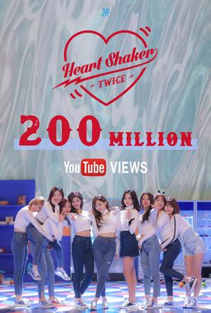 【公式】「TWICE」、「Heart Shaker」MVが2億ビューを突破(提供:OSEN)