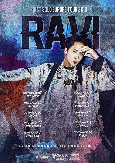 韓国アイドルグループ「VIXX」RAVI(ラビ)が1stソロヨーロッパツアーを開催することがわかった。(提供:news1)
