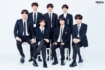 韓国アイドルグループ「防弾少年団(BTS)」が「アイドルチャート」の「アチャランキング」週間チャートで2連続1位に輝いた。(提供:OSEN)