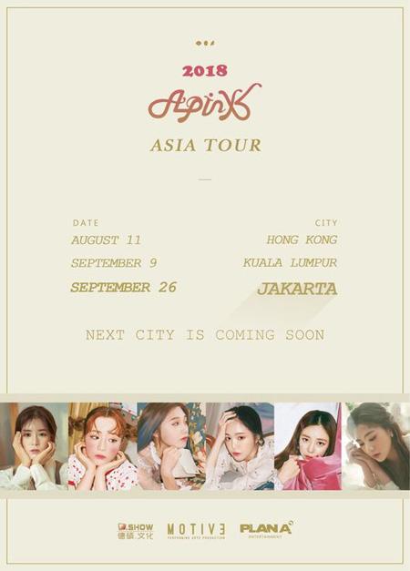 「Apink」、8月香港を皮切りにアジアツアースタート(提供:OSEN)