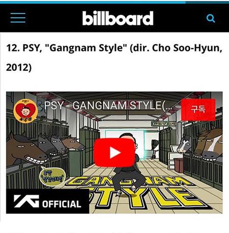 PSYの「江南スタイル」、米ビルボード選定「21世紀最も偉大なMV」で12位! (提供:OSEN)