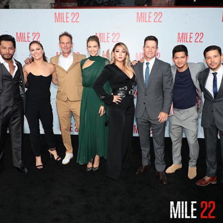 韓国歌手CL(元2NE1/写真右から4人目)がハリウッド映画デビュー作となる「MILE 22」の試写会に出席した。(提供:OSEN)