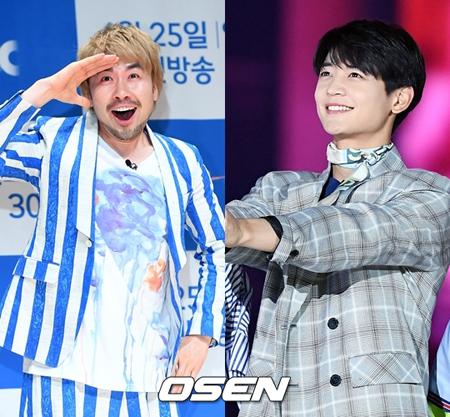 韓国ボーイズグループ「SHINee」メンバーのミンホと、お笑い芸人のノ・ホンチョルが音楽番組のスペシャルMCを務めることになった。(提供:OSEN)