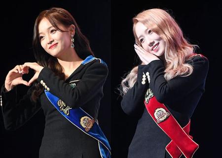 韓国ガールズグループ「宇宙少女」メンバーのミキとソニが、中国版「PRODUCE 101」とされる「創造101」で結成されたプロジェクトグループ「火箭少女(Rocket Girls)」から脱退した心境を語った。(提供:OSEN)